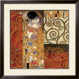 Deco Collage Detail (from The Kiss) Prints by Gustav Klimt