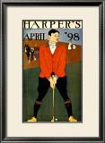 Harper's Bazaar, Golfer Framed Giclee Print