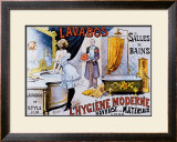 Lavabos Modernes Framed Giclee Print by A. Toubras