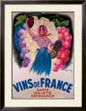 Vins de France Framed Giclee Print by Antoine Galland