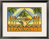 Hawaii Brochure, 1943 Framed Giclee Print