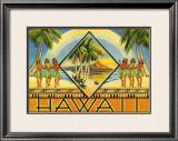 Hawaii Brochure, 1943 Framed Giclee Print