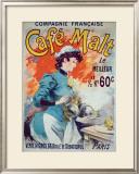 Cafe Malt Framed Giclee Print by Lucien Lefevre