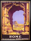 French Railway Travel, Rome Express Framed Giclee Print