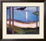 Moon Light, 1895 Prints by Edvard Munch