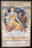 World's Fair, St. Louis,, Missouri, 1904 Framed Giclee Print by Alphonse Mucha