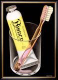 Binaca Toothpaste Framed Giclee Print by Niklaus Stoecklin