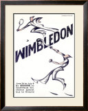 Wimbledon Tennis Framed Giclee Print by  Andrews & Power