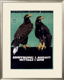 Zoo Framed Giclee Print by Ludwig Hohlwein