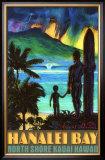 Hanalei Bay North Shore Kauai Framed Giclee Print by Rick Sharp