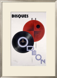 Odeon Audio LP Records Framed Giclee Print