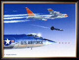 X-15 Launch Framed Giclee Print by Douglas Castleman