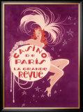 Casino de Paris Grand Revue Framed Giclee Print