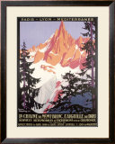 Mont Blanc, Chamonix Framed Giclee Print