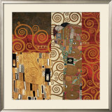 Deco Collage Detail (from Fulfillment, Stoclet Frieze) Posters by Gustav Klimt