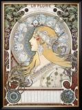 Zodiac le Plume Framed Giclee Print by Alphonse Mucha