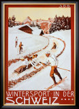 Winter Sport in Der Schweiz Posters by P. Colombi