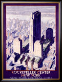 Rockefeller Center Railroad, c.1934 Framed Giclee Print
