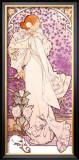 Mucha Sarah Bernhardt Tour Poster Framed Giclee Print by Alphonse Mucha
