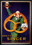 Bretzels Singer Poster by  Lotti