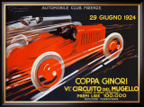 Coppa Ginori, Auto Race, Florence Framed Giclee Print