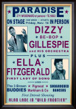 Dizzy Gillespie and Ella Fitzgerald at Paradise, Detroit, 1947 Art by Dennis Loren