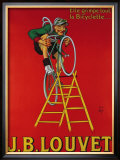 Cycles J.B. Louvet Framed Giclee Print by  Mich (Michel Liebeaux)