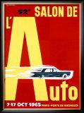 52nd Salon de l'Auto, 1965 Framed Giclee Print by Pierre Fix-Masseau
