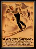 St. Moritzer Skirennen Posters