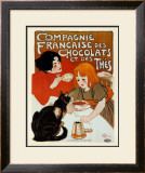 Compagnie des Chocolats et des Thes Print by Théophile Alexandre Steinlen