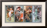 Four Seasons Framed Giclee Print by Alphonse Mucha