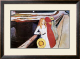Girl on a Bridge Prints by Edvard Munch