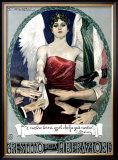 Liberty Bond Prestito Della Liberazione Framed Giclee Print by Achille Luciano Mauzan