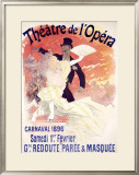 Theatre de l'Opera, Carnaval, 1896 Framed Giclee Print by Jules Chéret