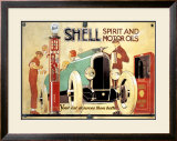 Shell Framed Giclee Print by René Vincent