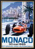 Grand Prix Monaco, 30 Mai 1965 Framed Giclee Print
