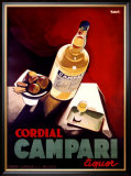 Cordial Campari Framed Giclee Print