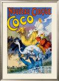 Nouveau Cirque Coco Framed Giclee Print
