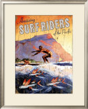 Amazing Surfriders of the Pacific Framed Giclee Print