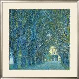 Viale Alberato Poster by Gustav Klimt