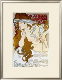 Salon des Cents Framed Giclee Print by Alphonse Mucha