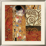 Deco Collage Detail (from The Kiss) Art by Gustav Klimt