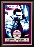 Charles Mingus Recording Live at the Jazz Workshop, San Francisco Poster by Dennis Loren