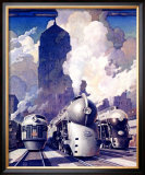 New York, Central Railroad Framed Giclee Print by Leslie Ragan