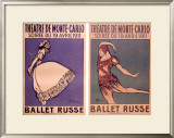 Theatre de Monte Carlo, Ballet Russe Framed Giclee Print by Jean Cocteau