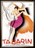 Tabarin Framed Giclee Print by Paul Colin