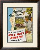 Cruisin' The Coast Cambria, California Framed Giclee Print