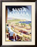 Santa Barbara Beach Resort Framed Giclee Print