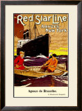 Red Star Line, Anvers to New York Framed Giclee Print