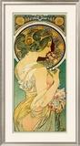 La Primevere Framed Giclee Print by Alphonse Mucha